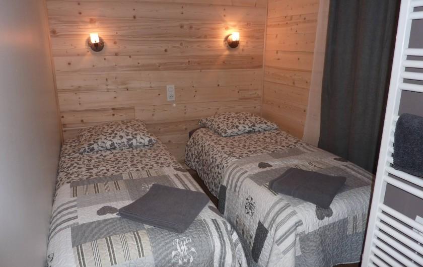 Location de vacances - Appartement à Sainte-Foy-Tarentaise - Chambre N°1 (2 lits simples)