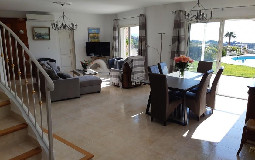 Location de vacances - Villa à Les Issambres - séjour salon  57 m2