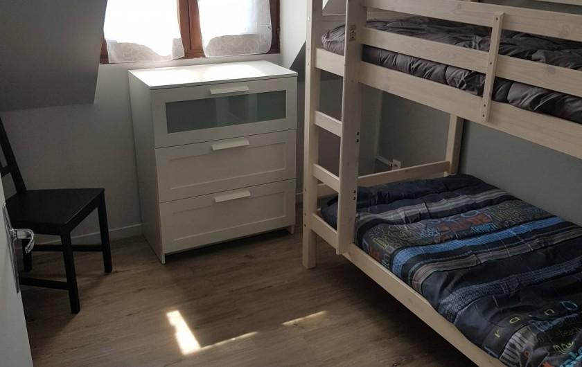 Location de vacances - Appartement à Blonville-sur-Mer - Chambre enfants avec lits mezzanine