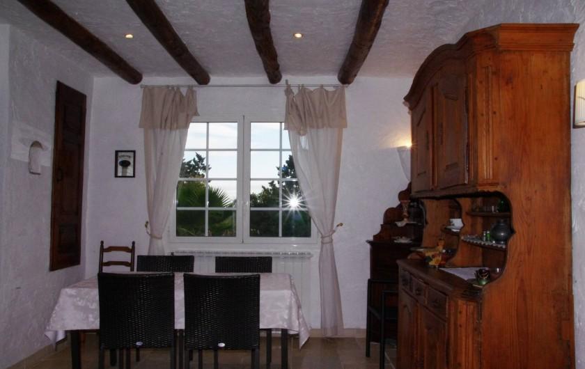 Location de vacances - Villa à Roquefort-les-Pins - Salle à manger