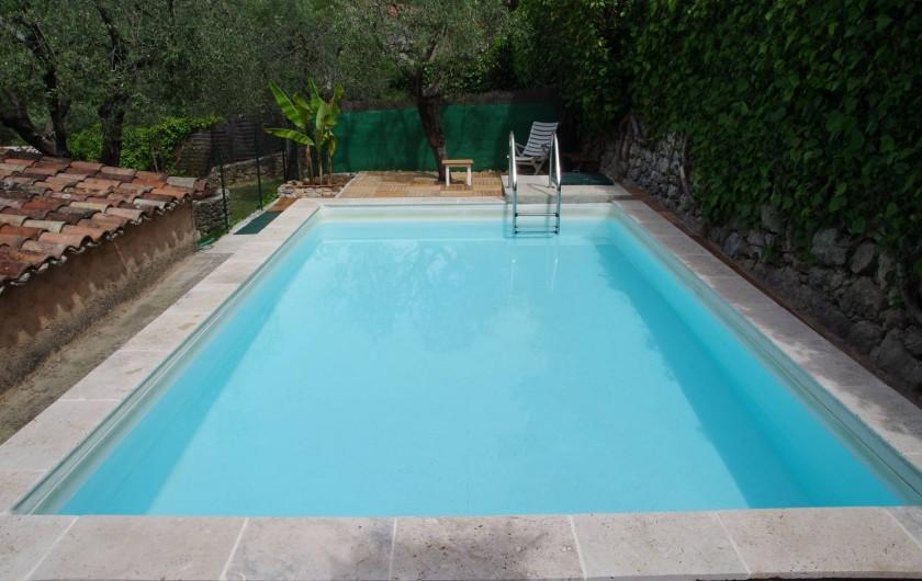 Location de vacances - Villa à Roquefort-les-Pins - Piscine