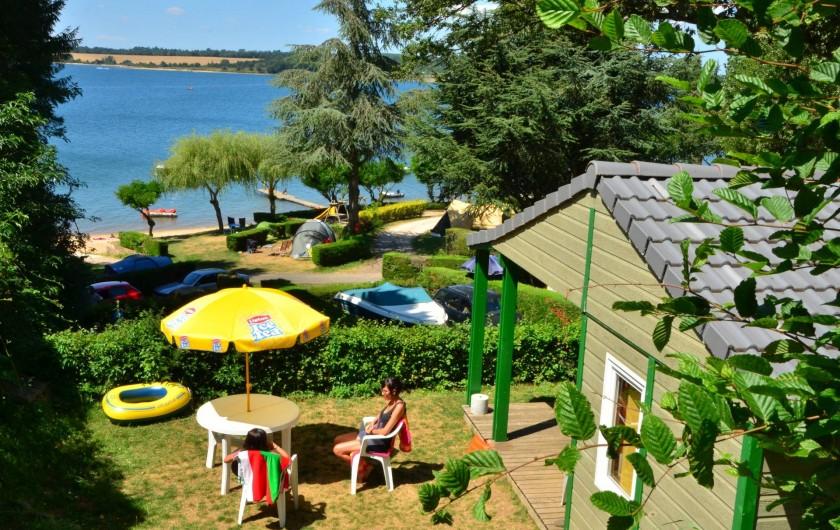Location de vacances - Camping à Salles-Curan - chalet mobil-home confort vue sur lac de pareloup au camping beau-rivage aveyron