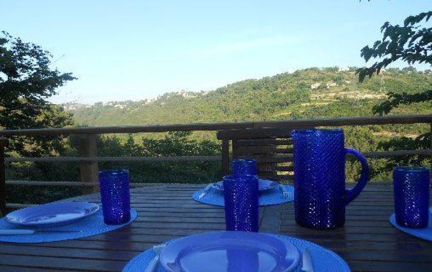 Location de vacances - Maison - Villa à Nice - Diner au plus grand calme
