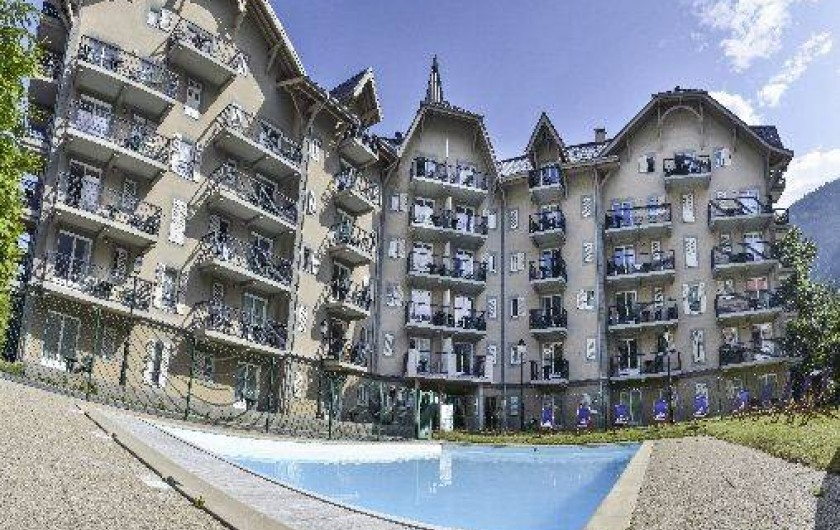 Location de vacances - Appartement à Saint-Gervais-les-Bains - Résidence Le Grand Panorama avec piscine (été)