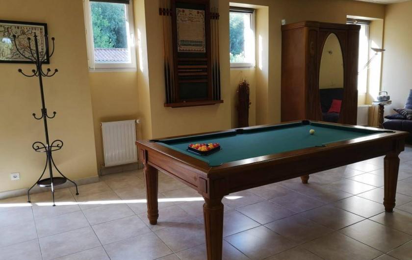 Location de vacances - Gîte à Badefols-sur-Dordogne - Billard de LA LONGERE