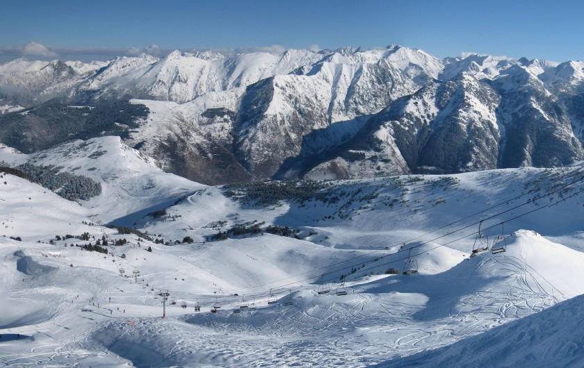 Location de vacances - Appartement à Ax-Bonascre (le Saquet) - 3ème domaine skiable : Les Campels