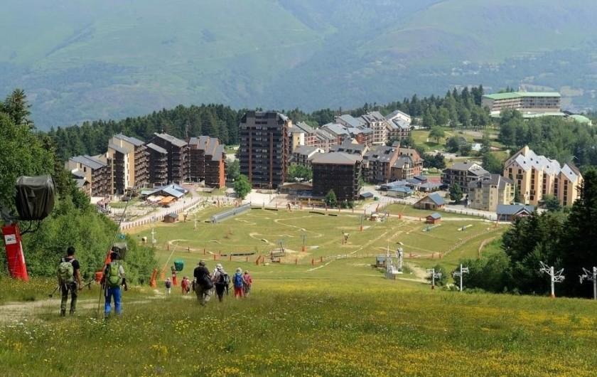 Location de vacances - Appartement à Ax-Bonascre (le Saquet) - Le plateau de BONASCRE (1er domaine skiable en hiver)