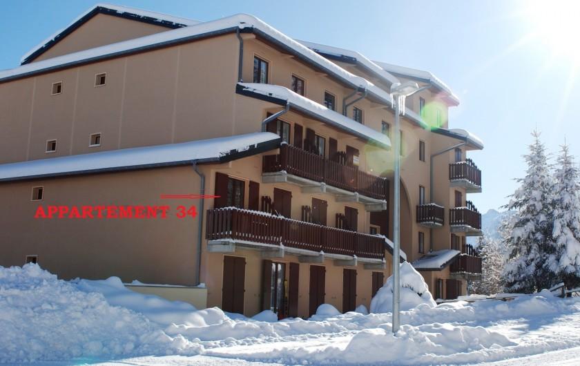 Location de vacances - Appartement à Ax-Bonascre (le Saquet) - Le côté de la résidence et  l'appartement 34 (aucun voisin au dessus)