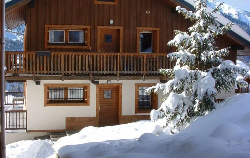 Location de vacances - Appartement à Méribel - Fougères - Façade Est