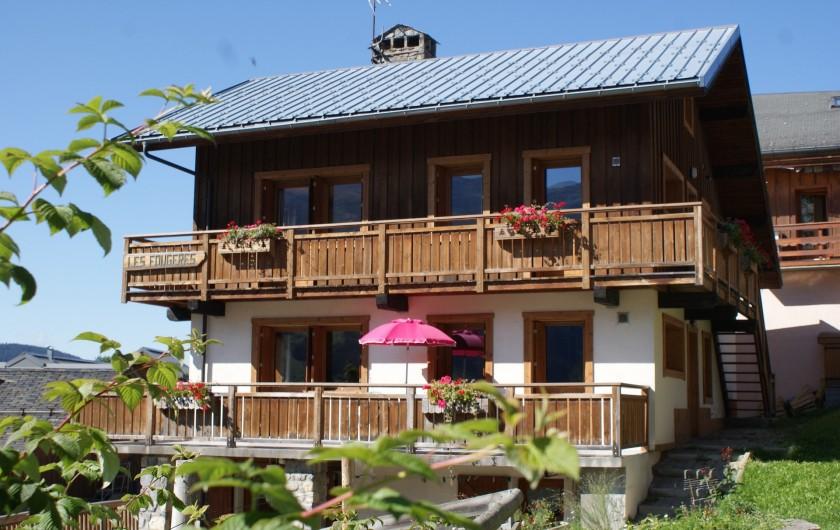 Location de vacances - Appartement à Méribel - Fougères - Façade Sud