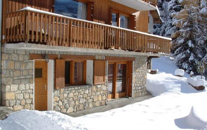 Location de vacances - Appartement à Méribel - Triolets - Rez-de-jardin