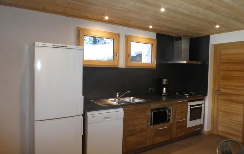 Location de vacances - Appartement à Méribel - Triolets - cuisine américaine