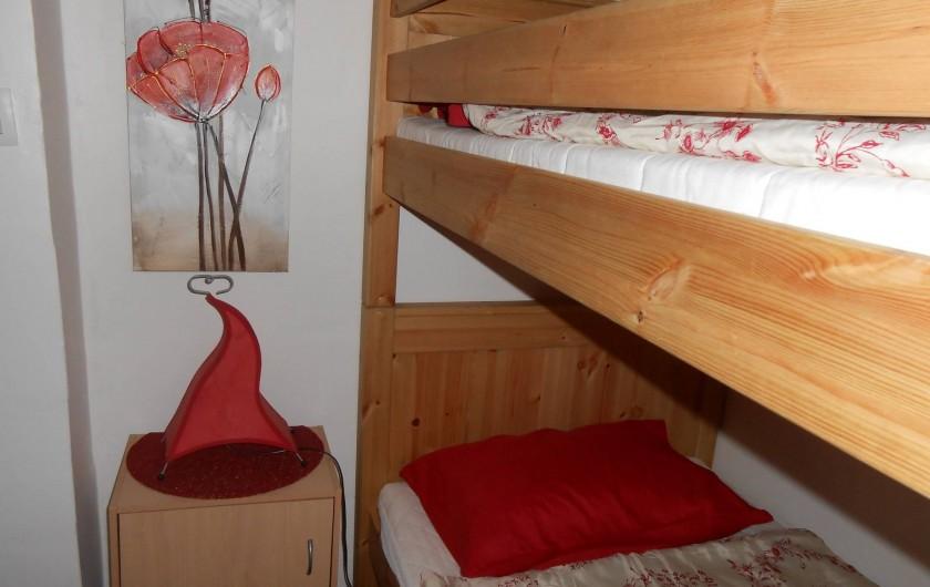 Location de vacances - Gîte à Vidauban - petite chambre lits superposés.
