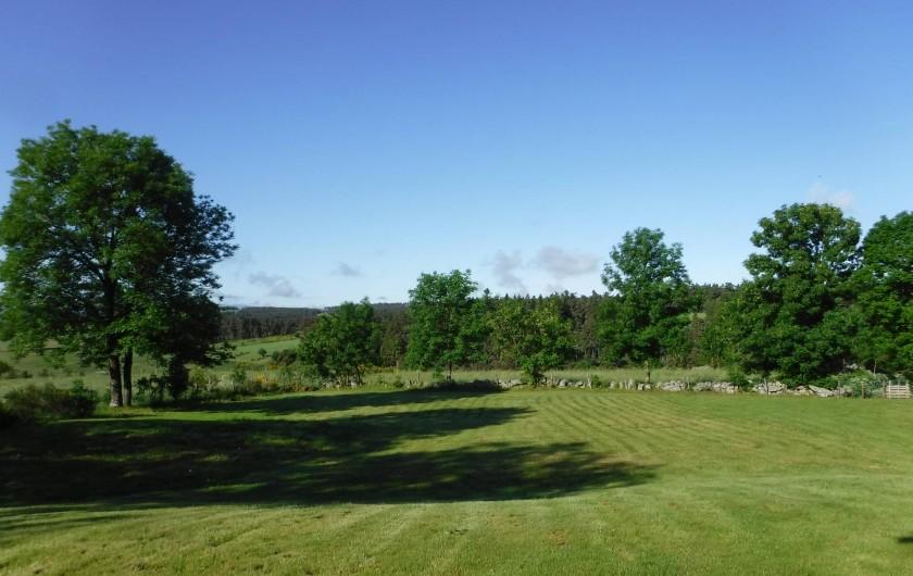Location de vacances - Chalet à Villesoule - vue de la terrasse