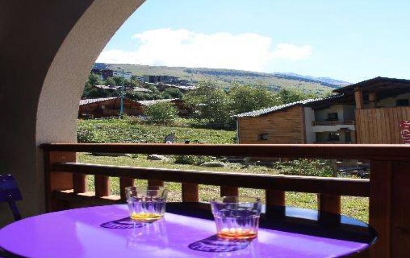 Location de vacances - Studio à Les Deux Alpes - Vue du balcon