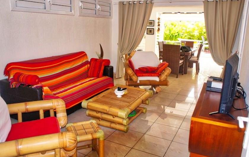 Location de vacances - Villa à Saint-François - Salon avec TV