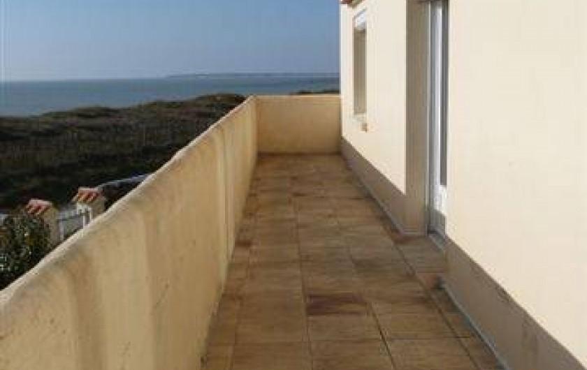 Location de vacances - Appartement à Barbâtre - Balcon