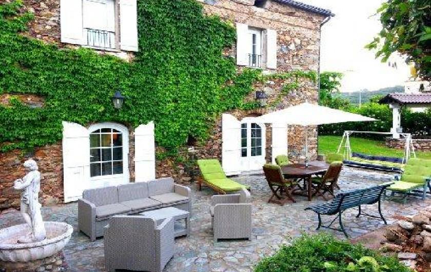 Location de vacances - Villa à Moriani-Plage - Terrasse de 100 m2