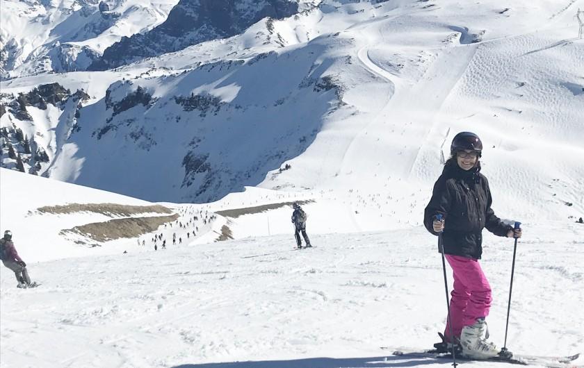Location de vacances - Appartement à Samoëns - vue pistes de ski