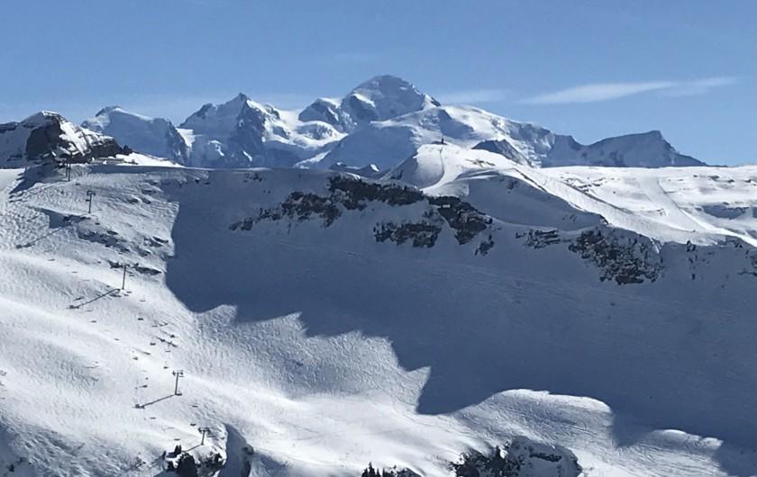 Location de vacances - Appartement à Samoëns - Vue Mont Blanc
