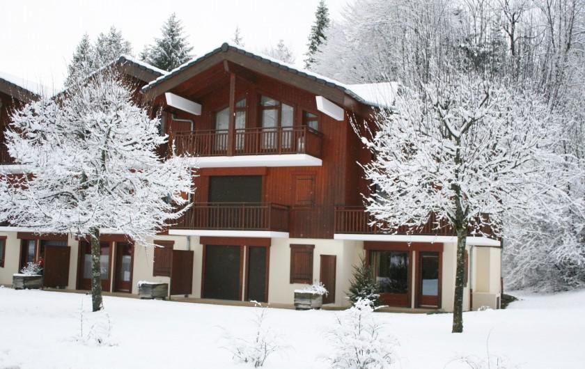 Location de vacances - Appartement à Samoëns - Résidence Les Belettes en hiver