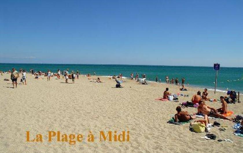 Location de vacances - Appartement à Argelès-sur-Mer - La plage à midi