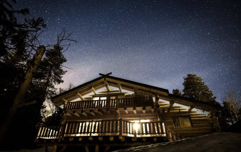 Location de vacances - Chalet à Bolquère - La nuit (photo réalisée sans trucage)