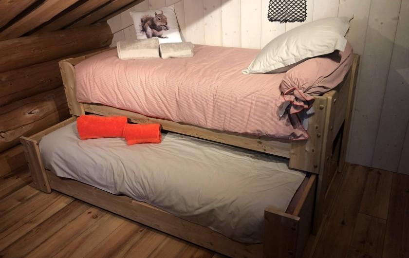 Location de vacances - Chalet à Bolquère - Le Grenier, ses lits gigognes
