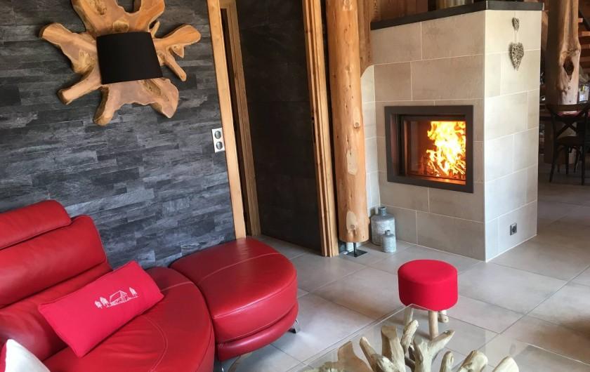 Location de vacances - Chalet à Bolquère - La cheminée double-face