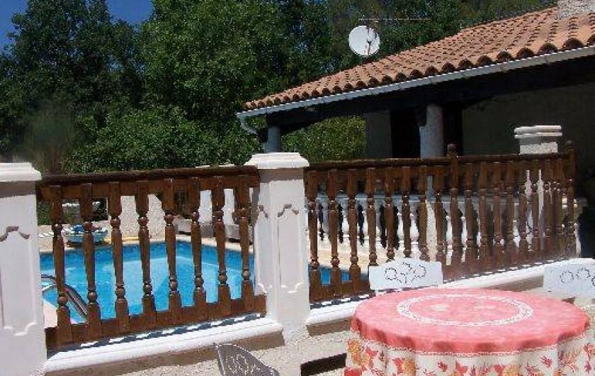 Location de vacances - Villa à Draguignan - Espace protégé interdisant l'accès de la piscine aux enfants en bas âge.