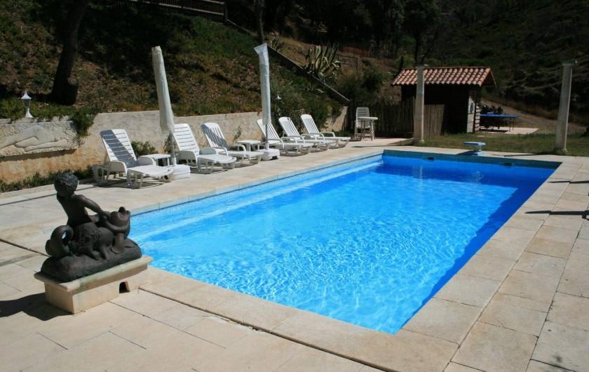 Location de vacances - Mas à Sainte-Maxime - la piscine