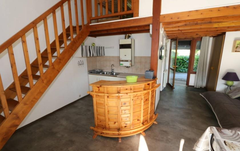 Location de vacances - Gîte à Grospierres - pièce à vivre gîte 2