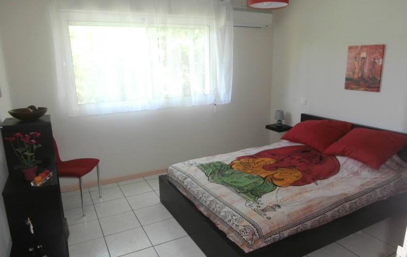 Location de vacances - Villa à Saint-Gilles les Bains - La chambre rouge