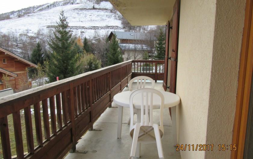 Location de vacances - Appartement à Saint-Sorlin-d'Arves - balcon