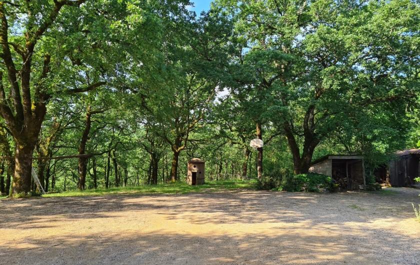 Location de vacances - Gîte à Mechmont - La cabane dans le bois devant le gite