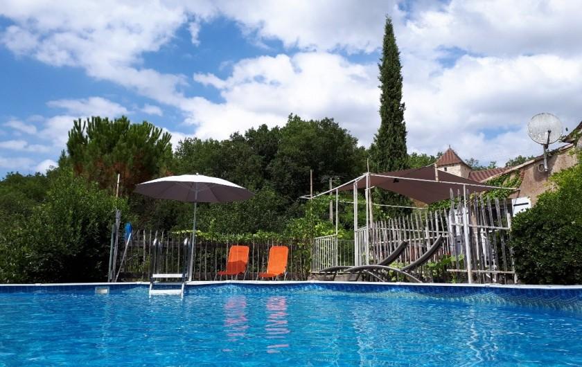Location de vacances - Gîte à Mechmont - piscine privée au gite