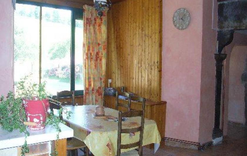 Location de vacances - Gîte à Plasne - coin repas
