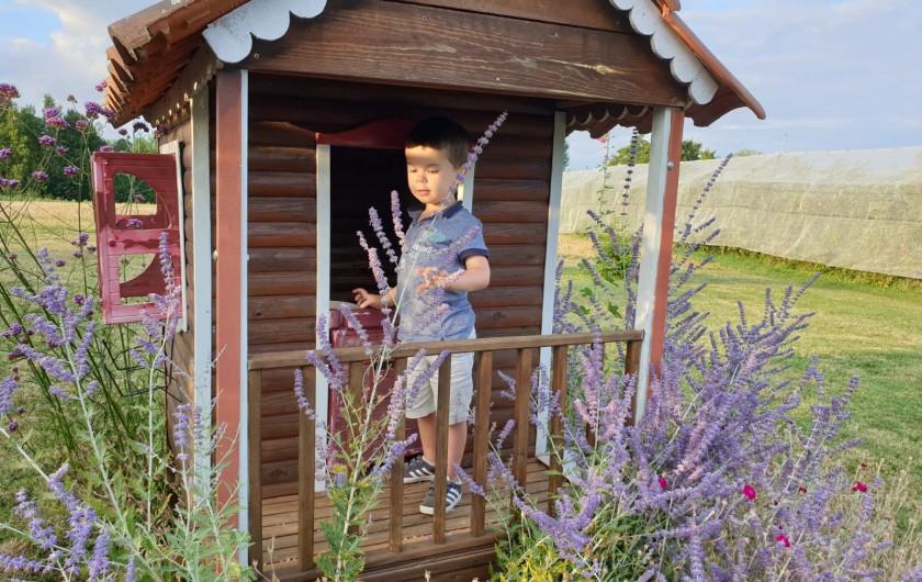 Location de vacances - Gîte à Lafrançaise - Les enfants adorent la petite maison bois.