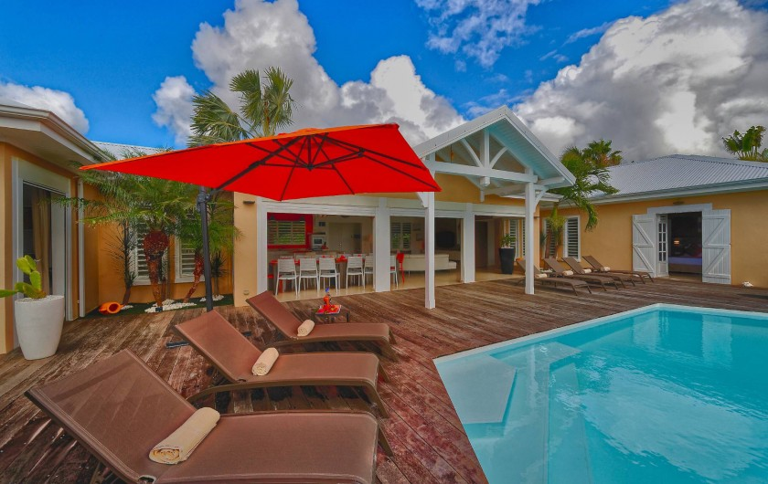 Location de vacances - Villa à Sainte-Anne - vue terrasse