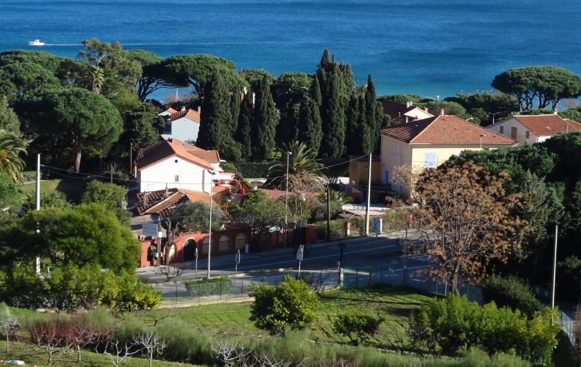 Location de vacances - Appartement à Le Lavandou - Vue de la colline
