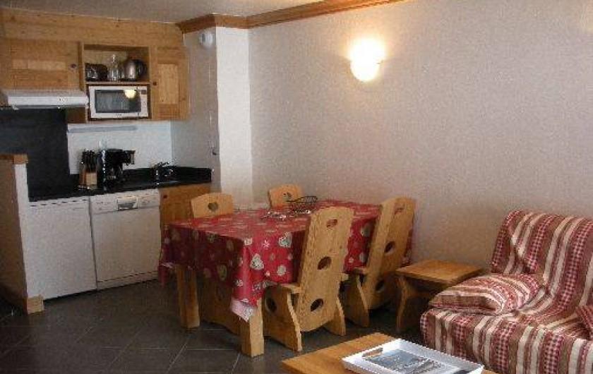 Location de vacances - Appartement à Lanslebourg-Mont-Cenis - Séjour : coin cuisine