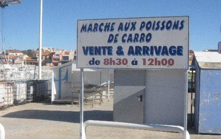Location de vacances - Appartement à Carry-le-Rouet - vente de poissons