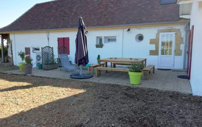 """Location de vacances - Gîte à La Force - """"Les Bricous"""" terrasse"""