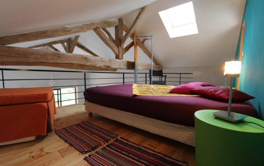 Location de vacances - Gîte à Bourrou - chambre mezzanine la grangette
