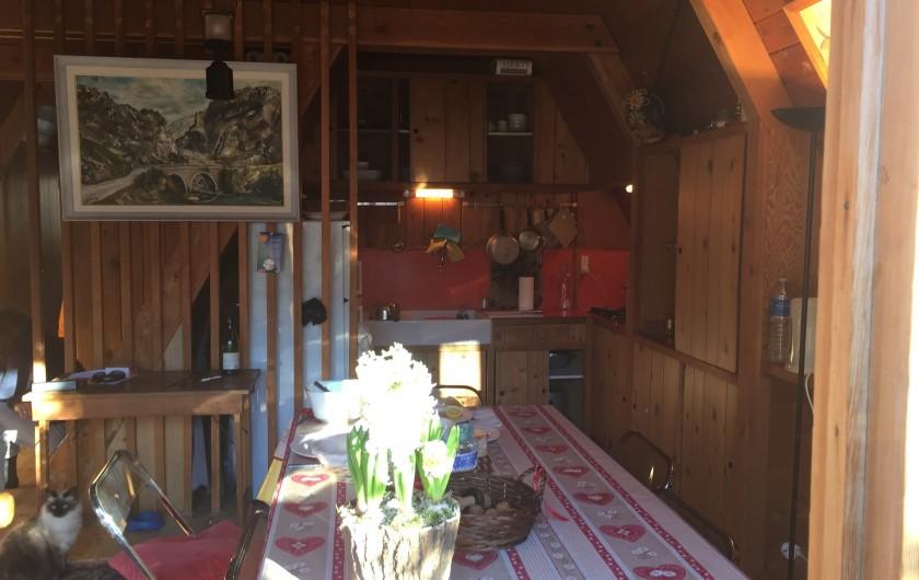 Location de vacances - Chalet à Allos - CUISINE PARTAGÉE