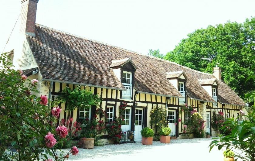 Location de vacances - Maison - Villa à Vitry-aux-Loges - Façade Sud Entrée principale