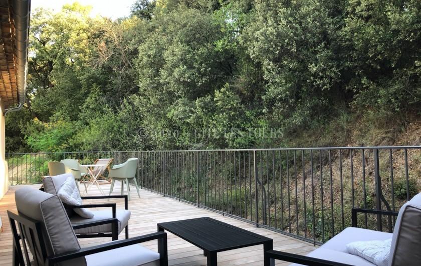 Location de vacances - Gîte à Sarrians - Terrasse 1er