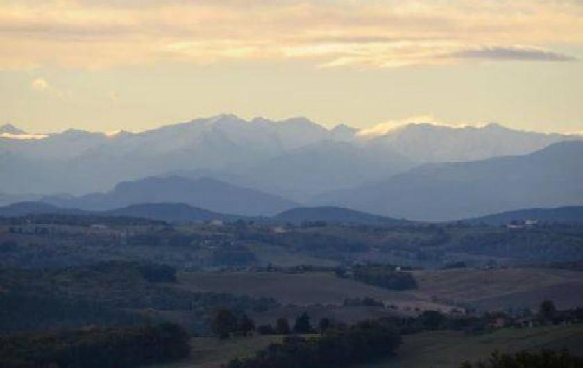 Location de vacances - Maison - Villa à Tournan - Un lever de soleil en novembre vu depuis la terrasse