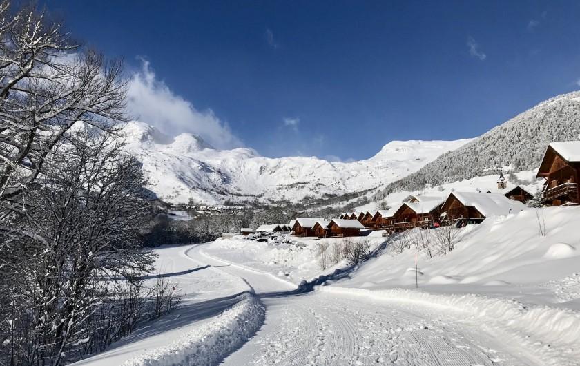 Location de vacances - Appartement à Saint-Sorlin-d'Arves - pistes de skating aux pieds du chalet