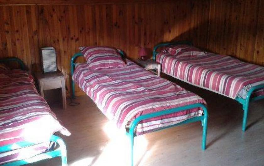 Location de vacances - Chalet à Alex - chambre 4 à l'étage : 5 lits de 0.90 cm